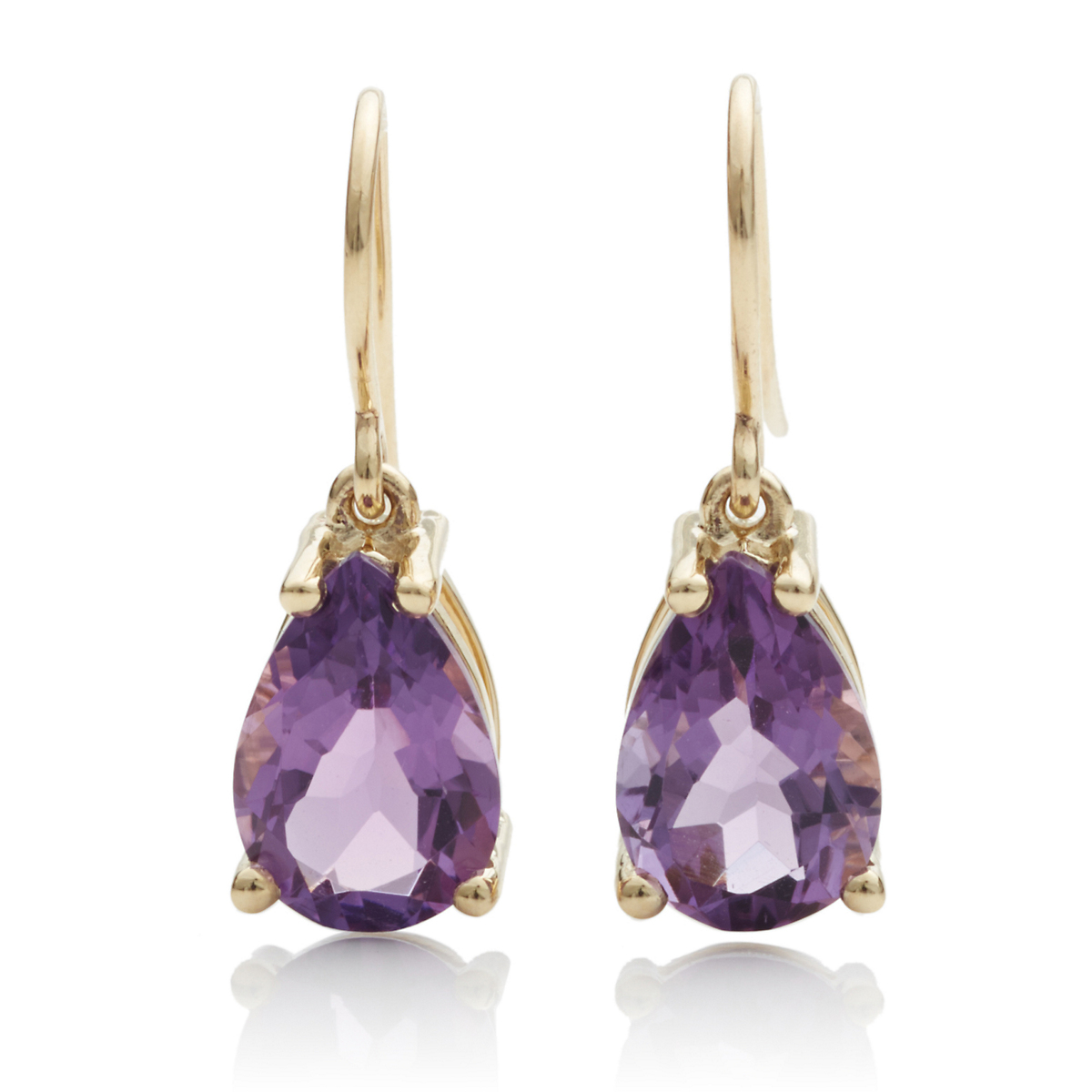 Gump's Faceted Gem Drop Earrings, Amethyst
