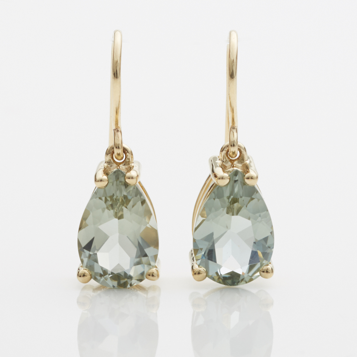 Gump's Green Quartz Teardrop Earrings