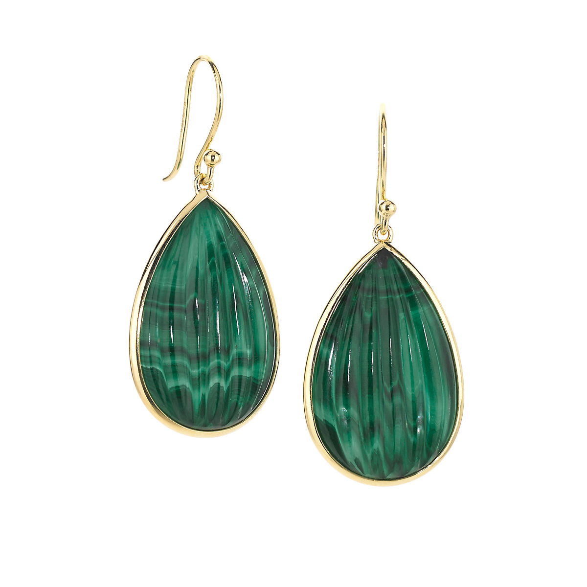 Elizabeth Showers Malachite & Quartz Pearburst Earrings