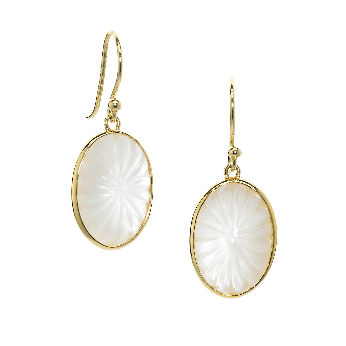Elizabeth Showers Mother of Pearl & Quartz Soleil Drop Earrings