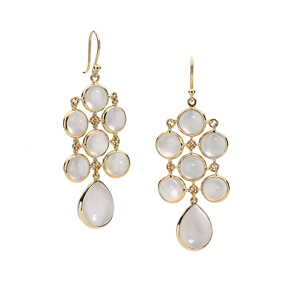 Elizabeth Showers Mother of Pearl & Quartz Juliette Earrings