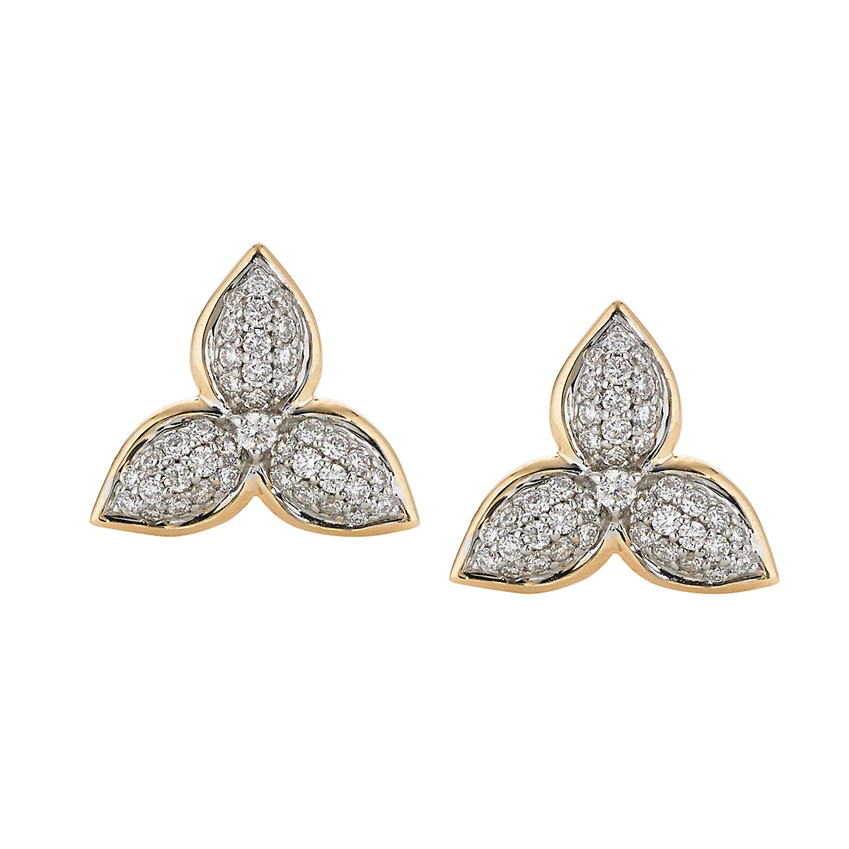 Elizabeth Showers Diamond Mini Mariposa Earrings