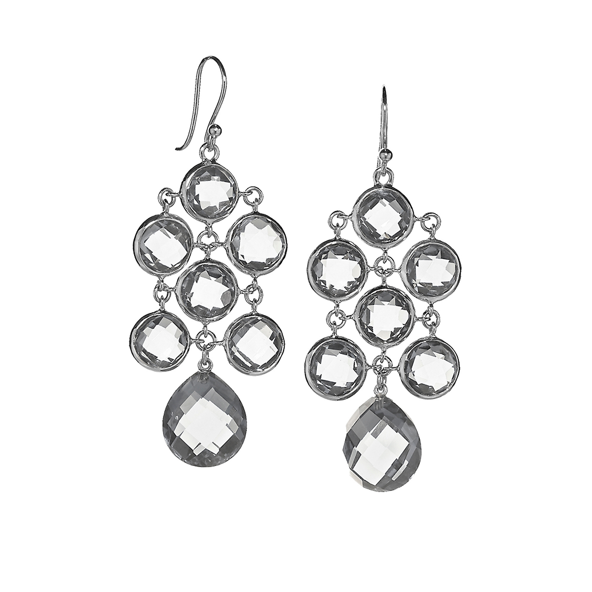 Elizabeth Showers Quartz Silver Juliette Earrings