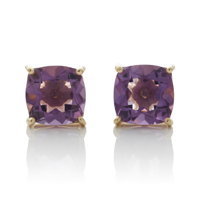Gump's Faceted Amethyst Stud Earrings