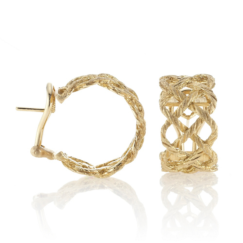 Buccellati Crepe de Chine Gold Hoop Earrings