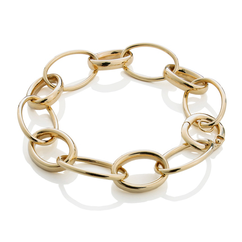 Gold Oval Links Bracelet