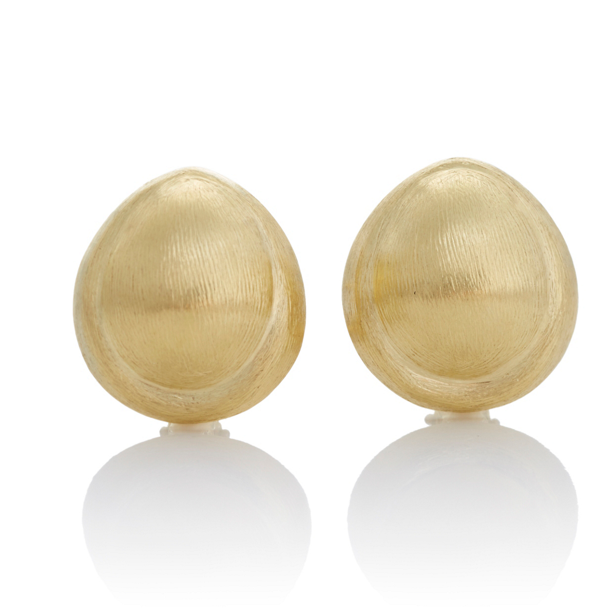 Oval Textured Gold Earrings