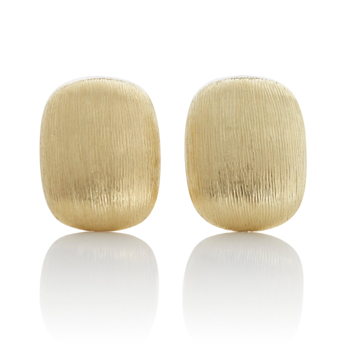Rectangle Textured Gold Earrings