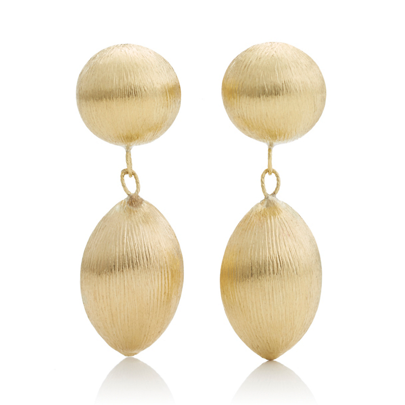 Double Drop Gold Earrings