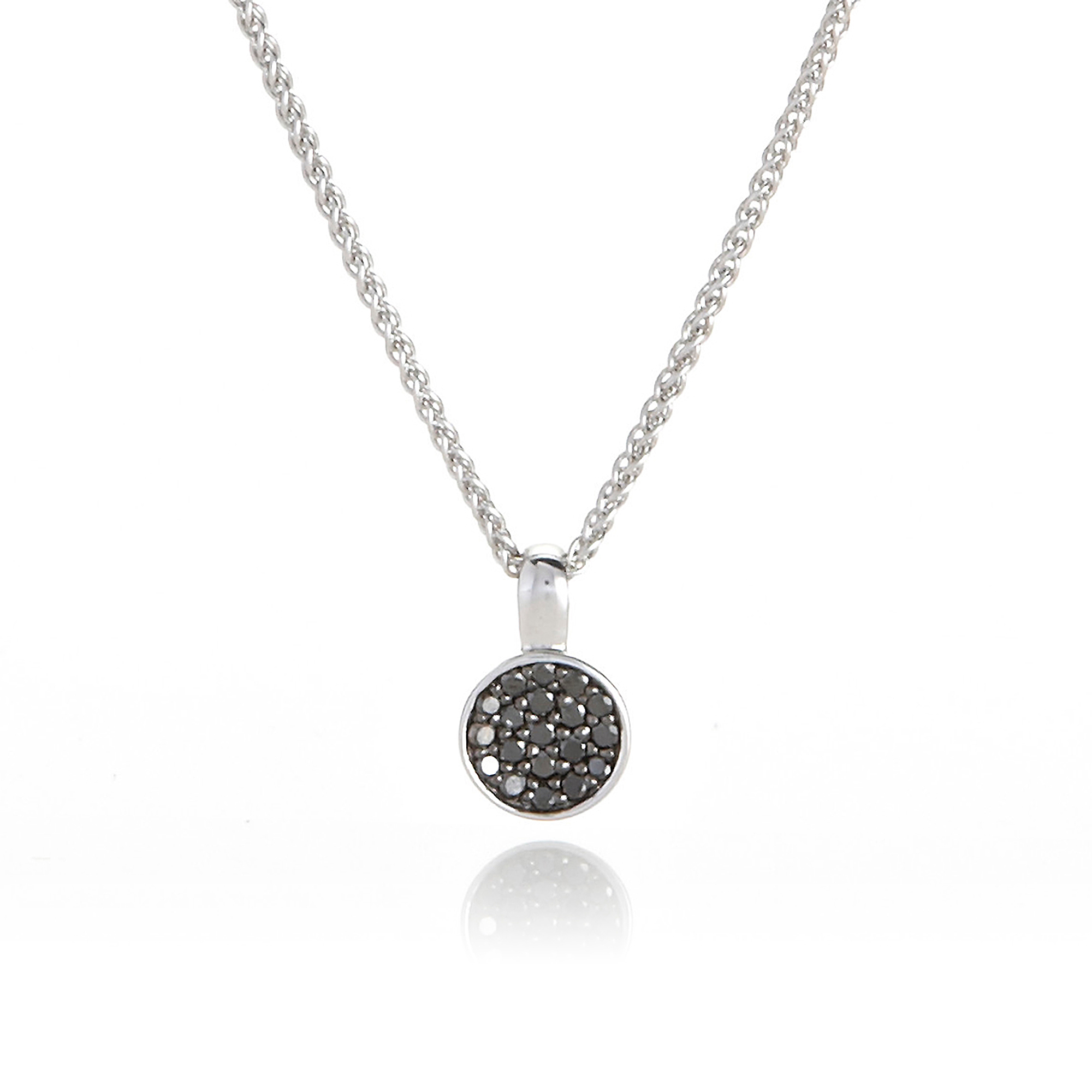 Gump's Pave Black Diamond Necklace