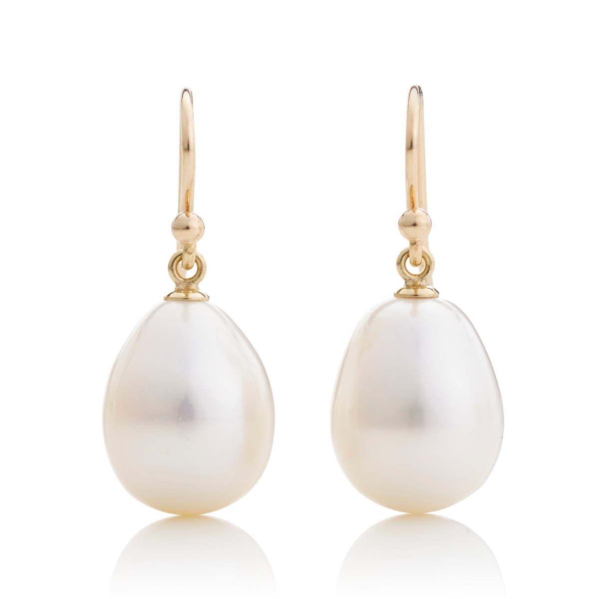 Gump's Large Pearl Drop Earrings