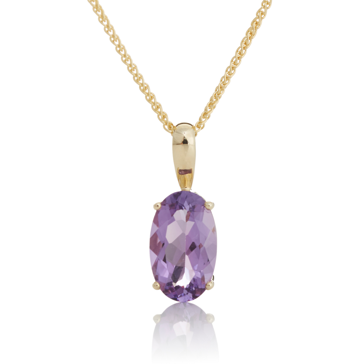 Gump's Faceted Amethyst Necklace