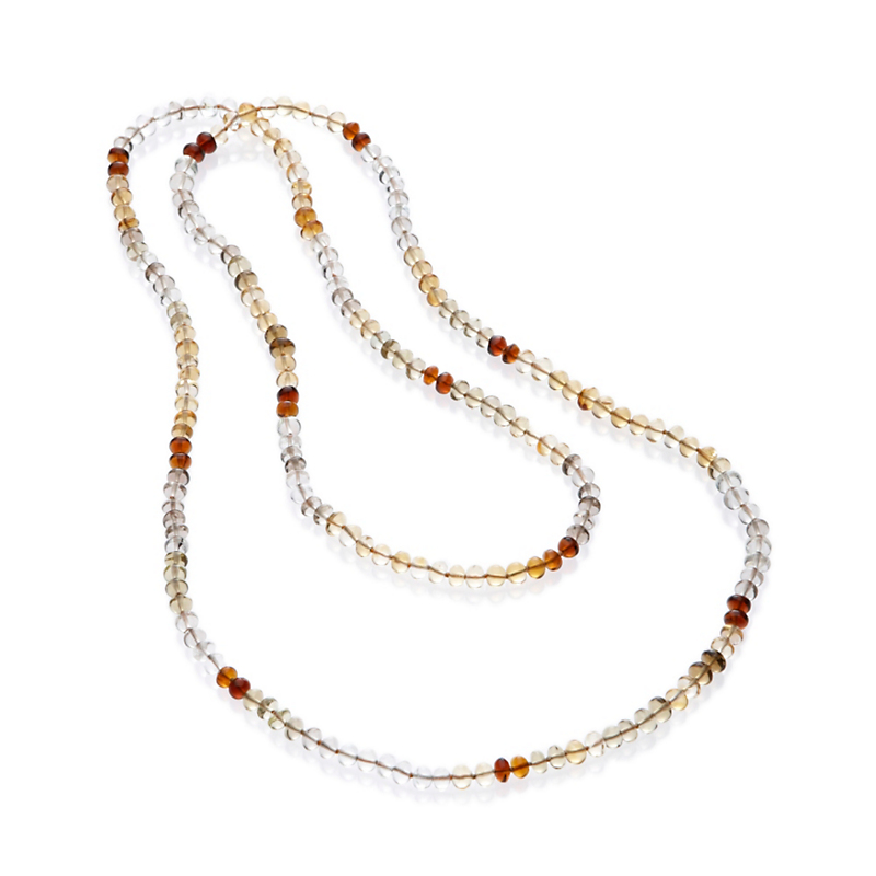 Gump's Multicolor Smooth Quartz Rope Necklace