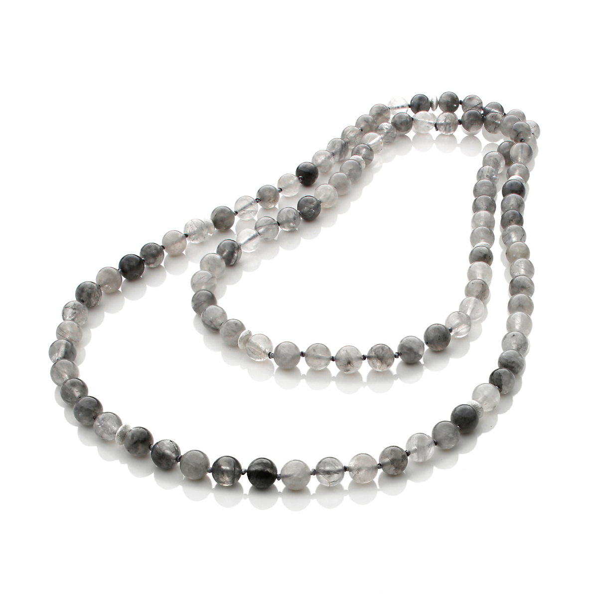 Gump's Multigray Quartz Bead Rope