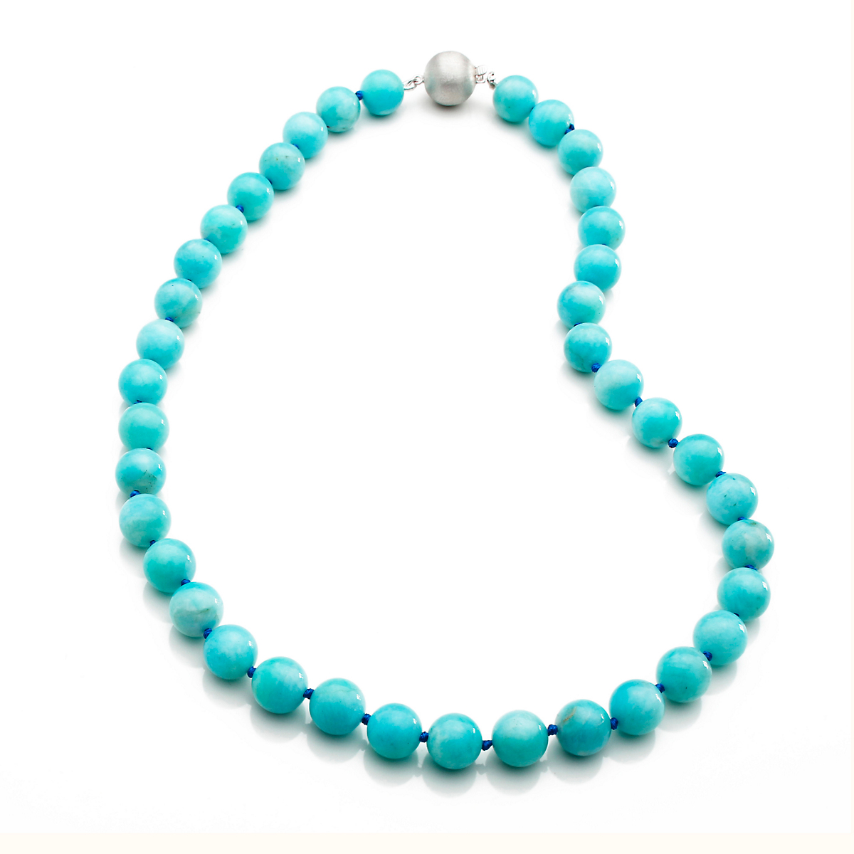 Gump's Amazonite Bead & Silver Necklace