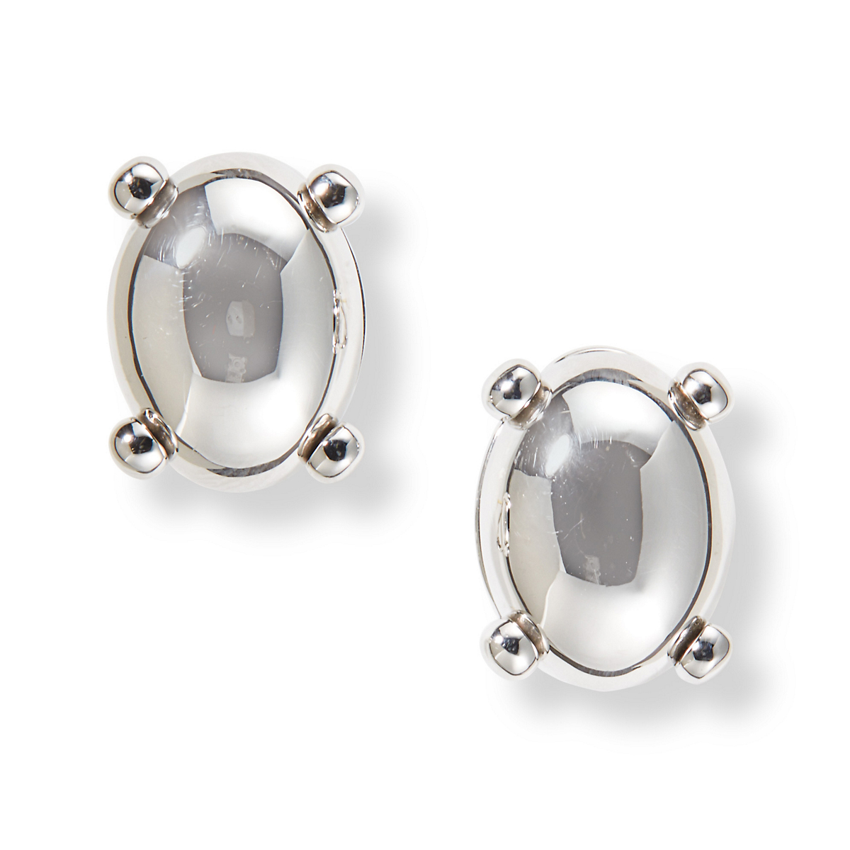 Gump's Silver Oval Cabochon Earrings