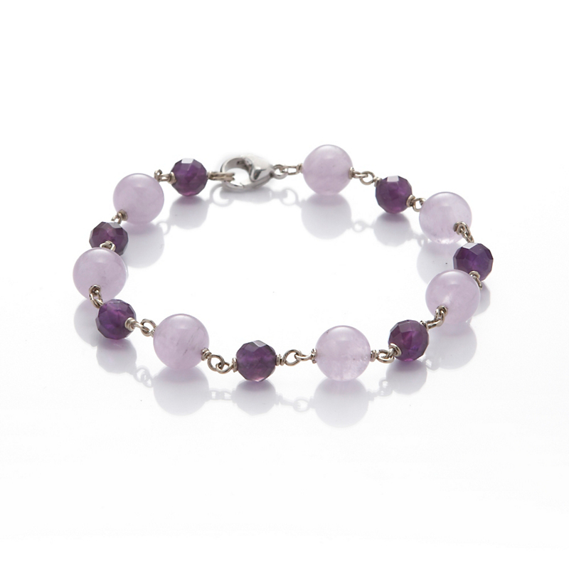 Gump's Light & Dark Amethyst Bracelet