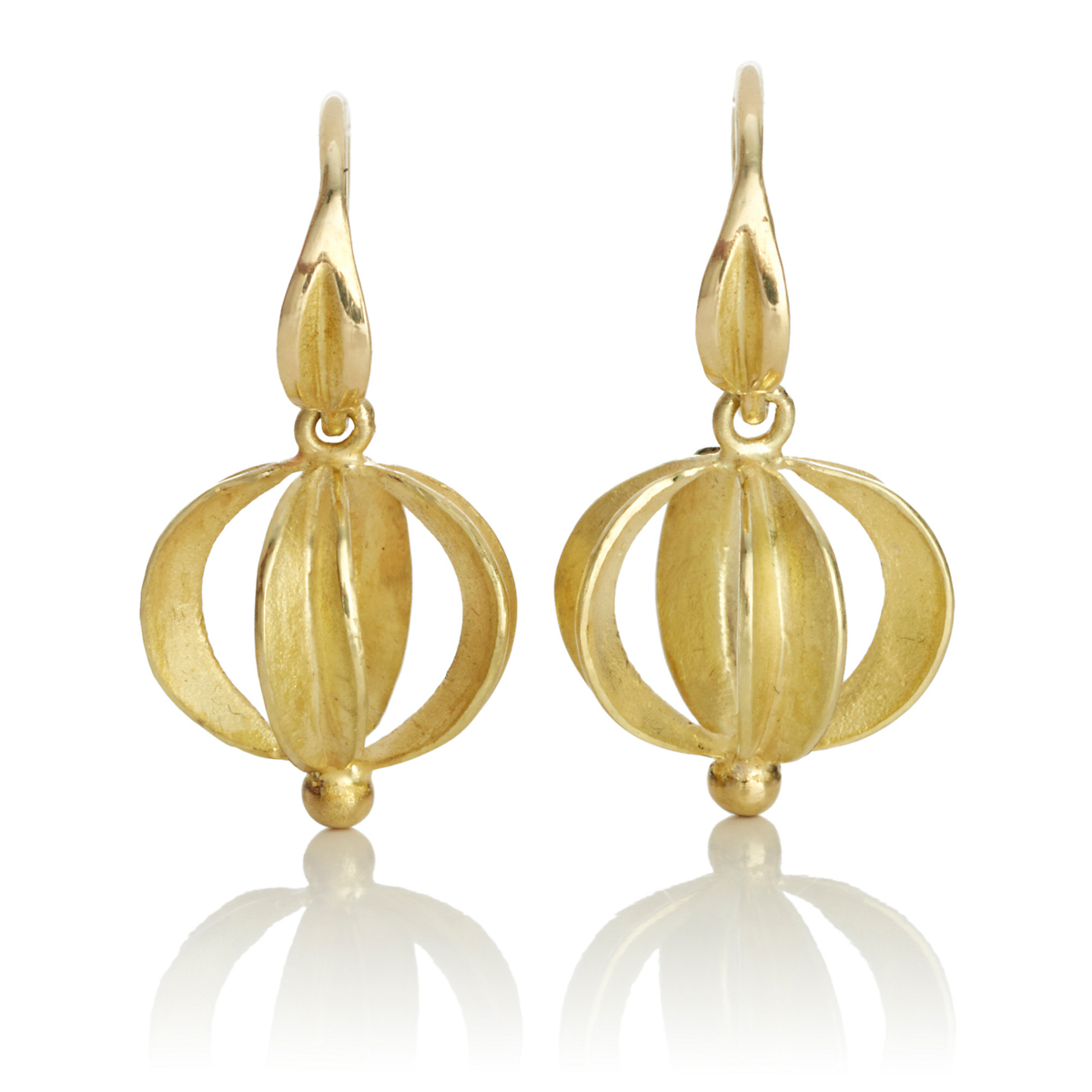 Barbara Heinrich Ribbon Ball Drop Earrings