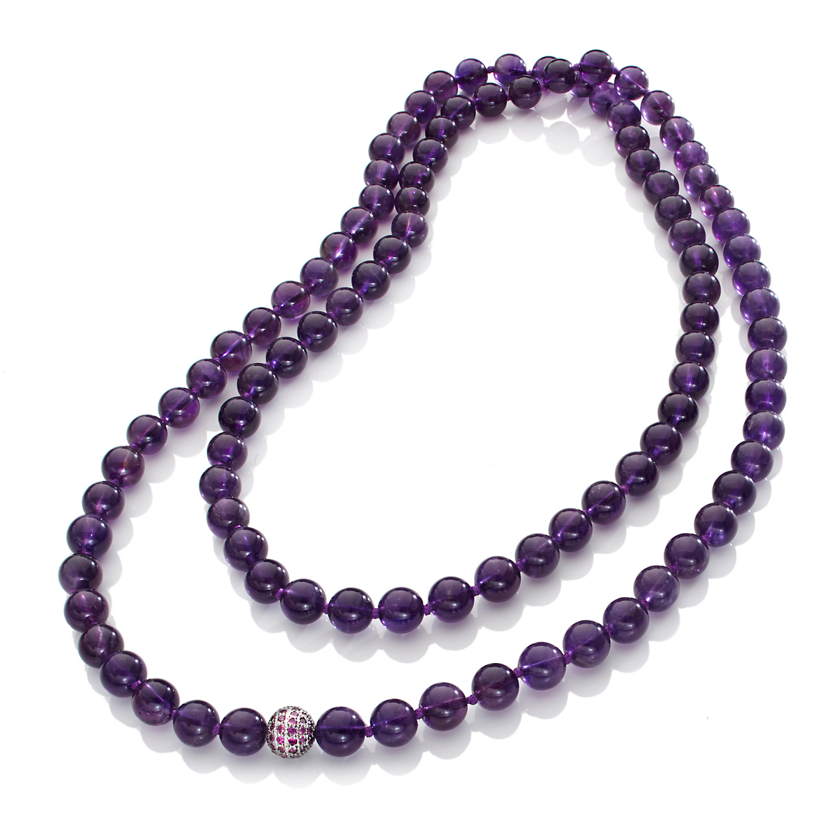 Gump's Dark Amethyst & Pavé Ruby Accent Rope