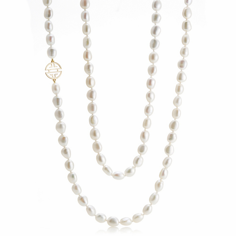 Gump's Gold Shou Baroque Pearl Rope