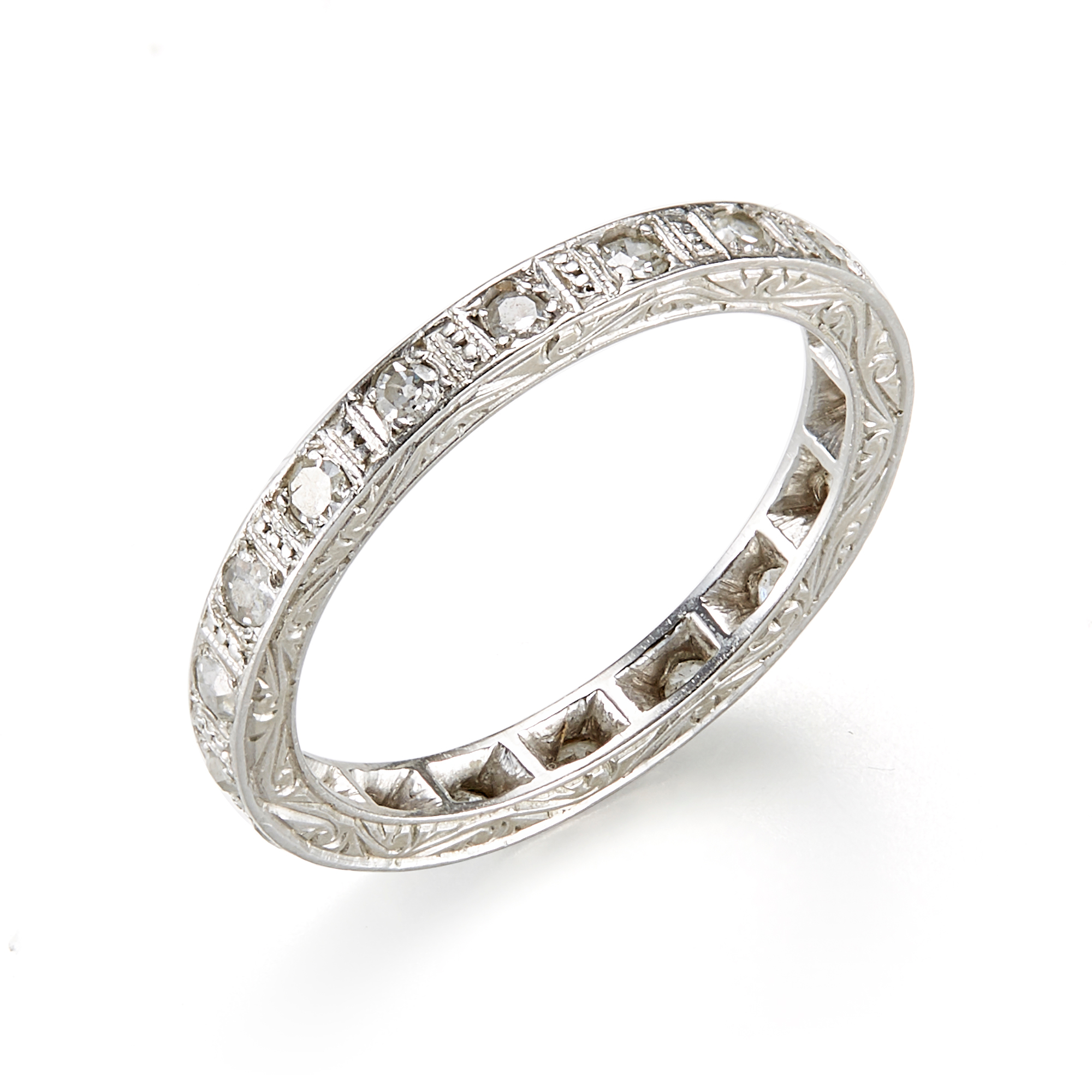 Estate Art Deco Chased Eternity Ring
