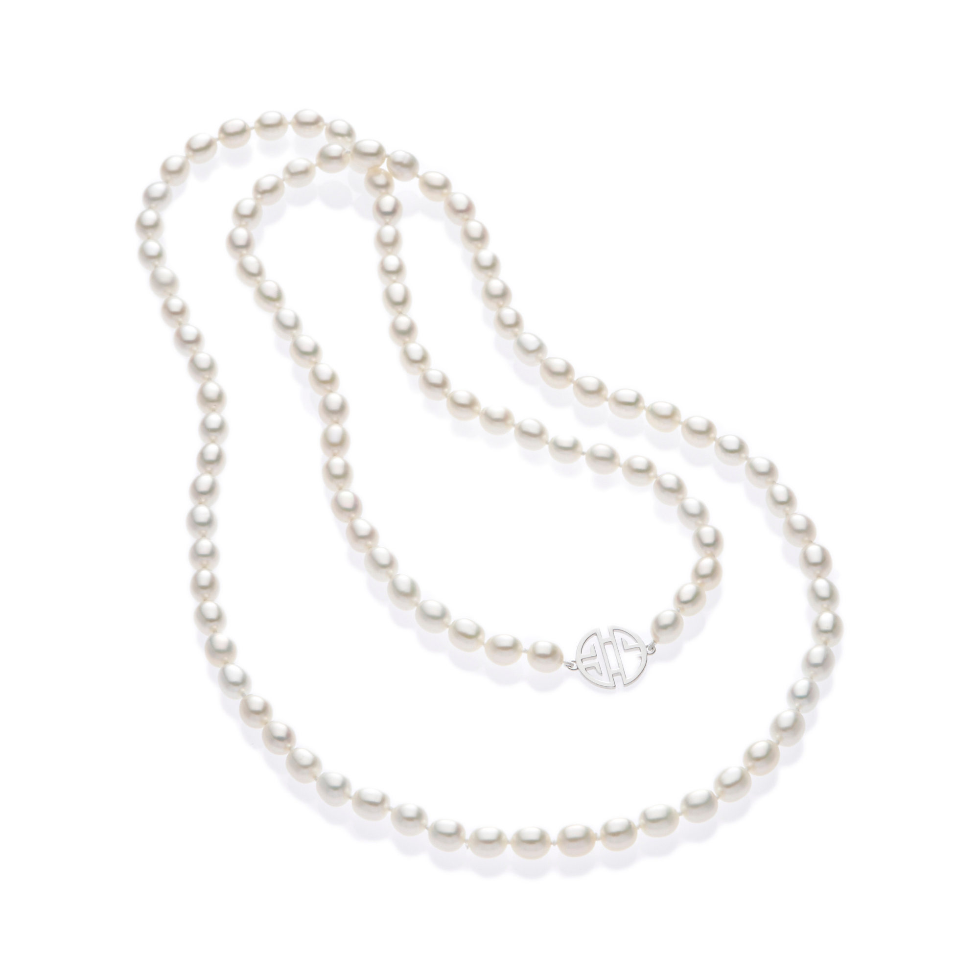 Gump's Shou and Freshwater Cultured Pearl Rope Necklace