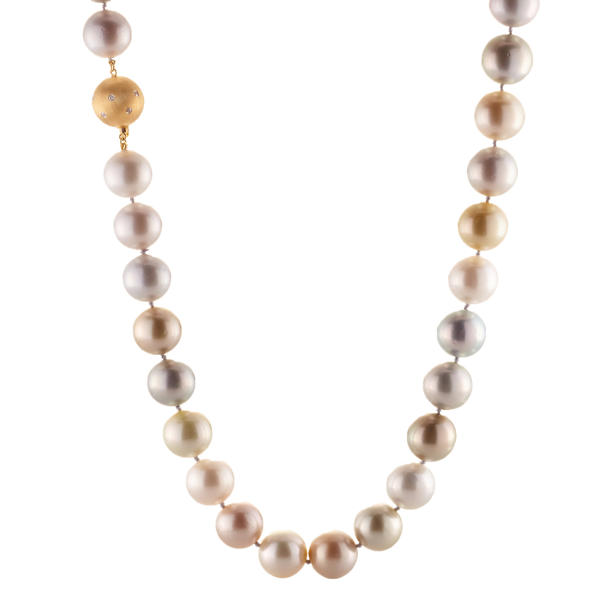 Gump's Pastel Tahitian and South Sea Pearl Necklace