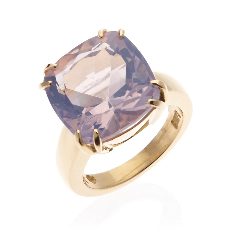 Gump's Lilac Quartz Double Prong Ring