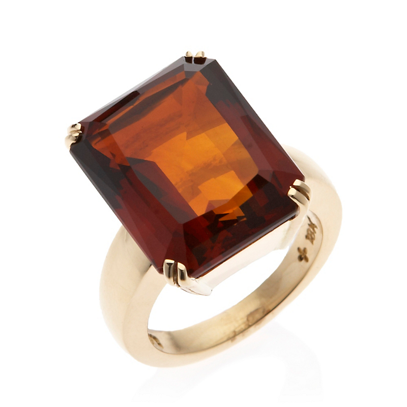Gump's Double Prong Madeira Citrine Ring
