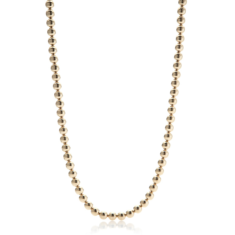 Gump's Polished Gold Bead Rope Necklace
