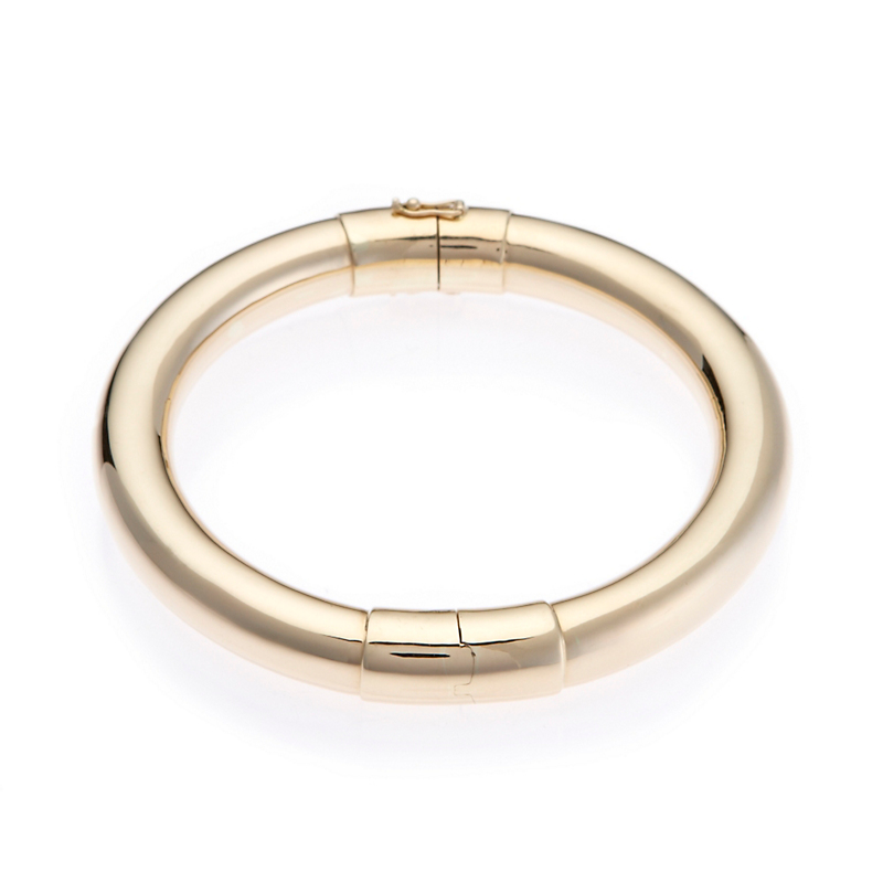 Gump's Gold Round Hinged Bangle