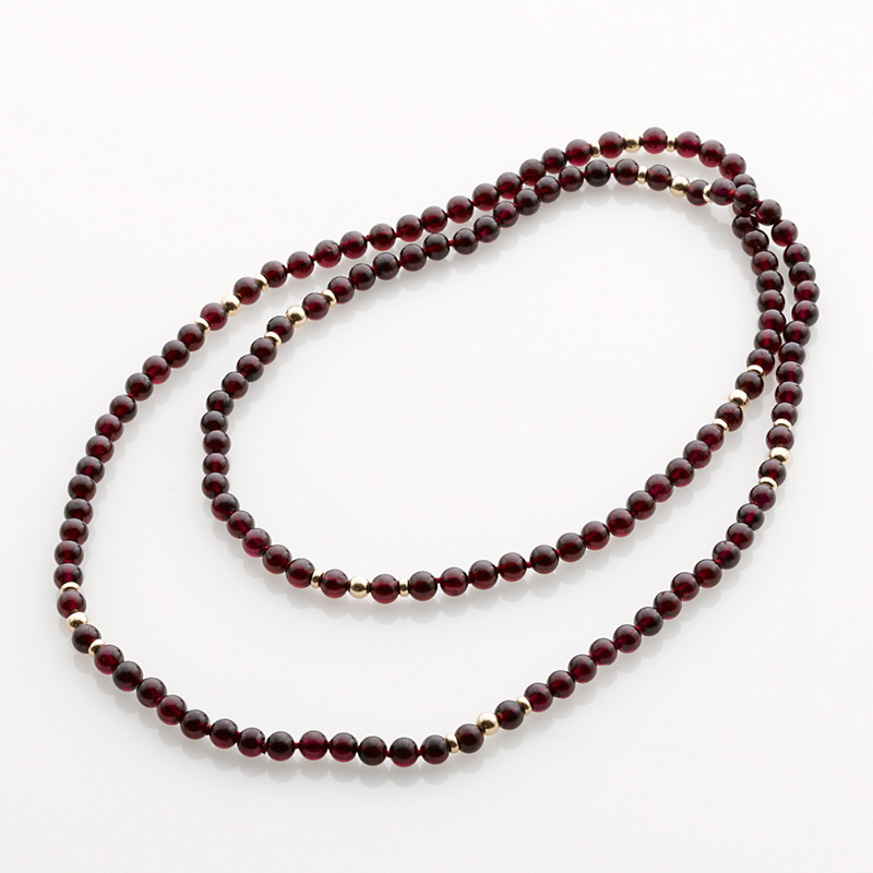 Gump's Garnet Bead Rope Necklace