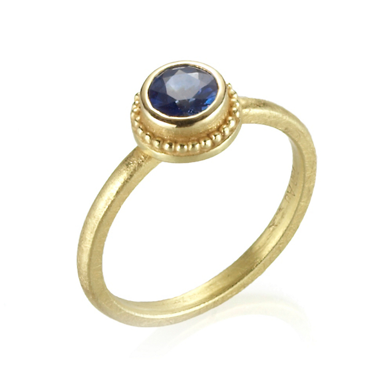 Barbara Heinrich Sapphire Granulated Ring