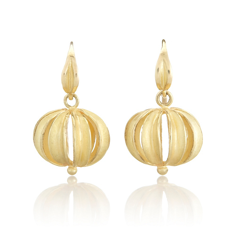 Barbara Heinrich Gold Beach Ball Earrings