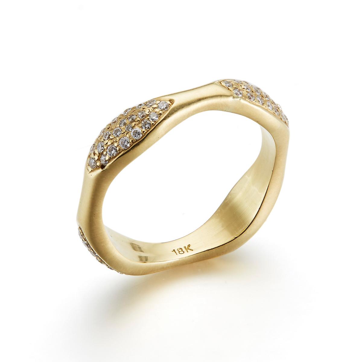 Kothari Diamond Pavé Four Section Ring