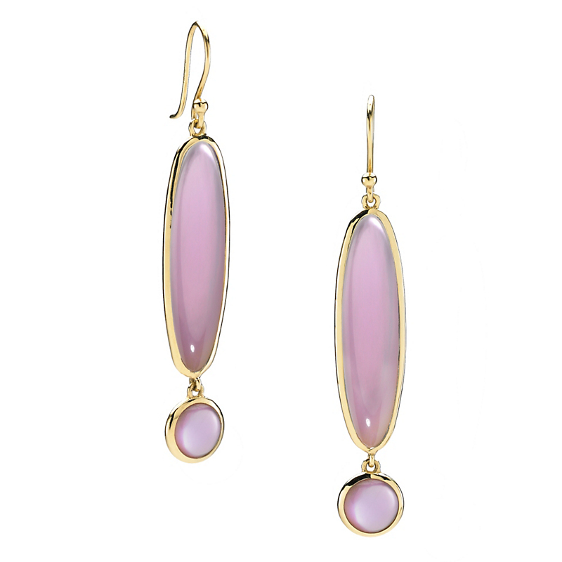 Elizabeth Showers Berry Quartz & Mother of Pearl Exclamation Point Earrings
