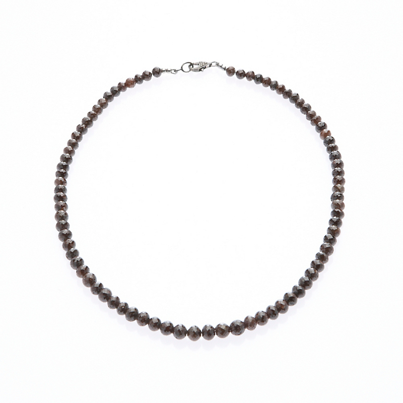Faceted Brown Diamond Necklace
