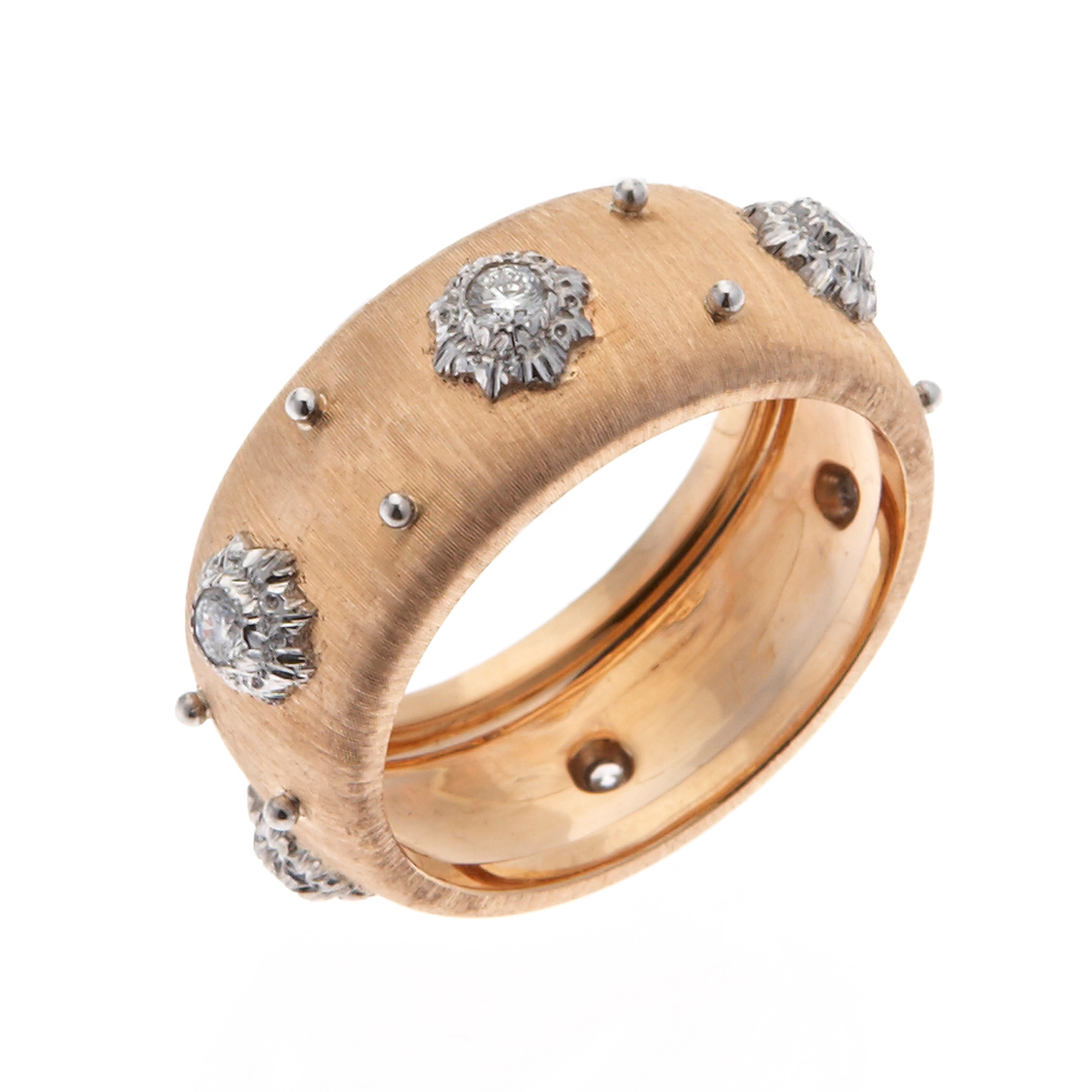 Buccellati Macri Rose Gold & Diamond  Band
