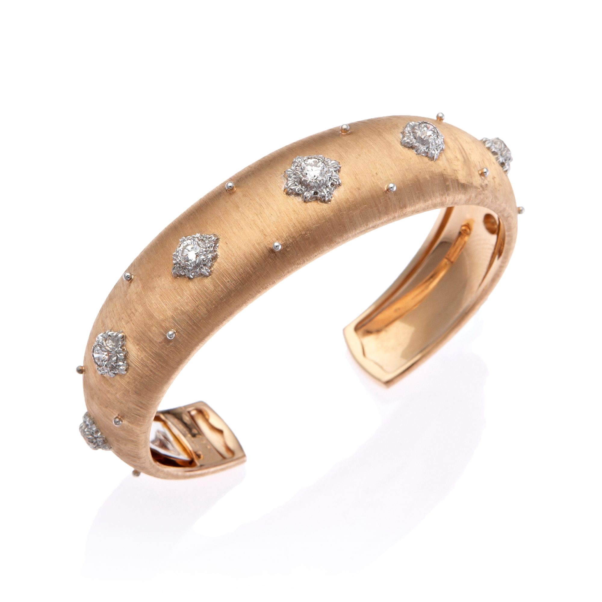 Buccellati Macri Rose Gold & Diamond Cuff