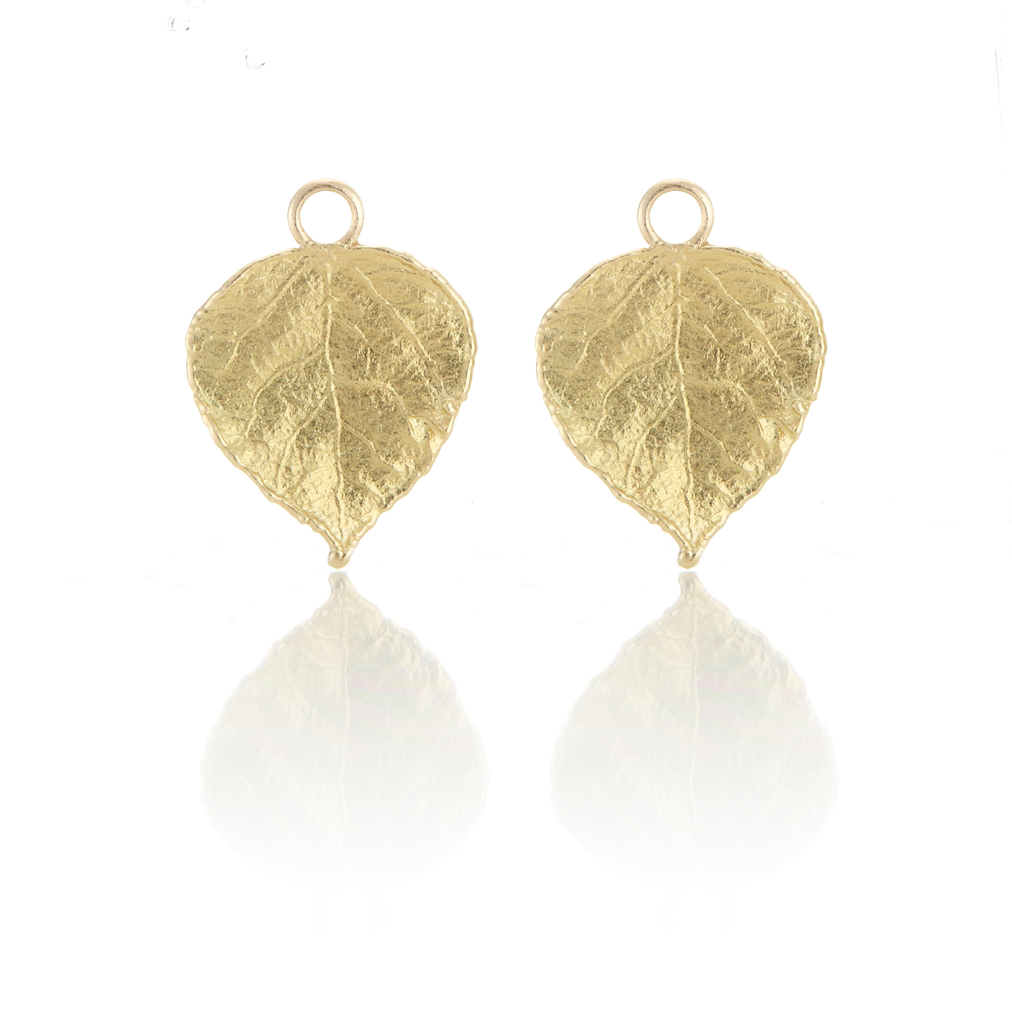 Aaron Henry Small Aspen Leaf Earring Charms