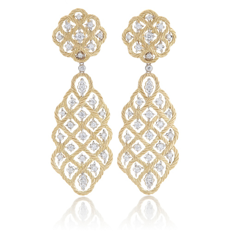 Buccellati Etoilee Diamond Large Pendant Earrings