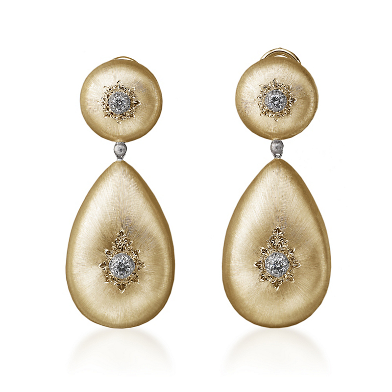 Buccellati Classica Teardrop Earrings