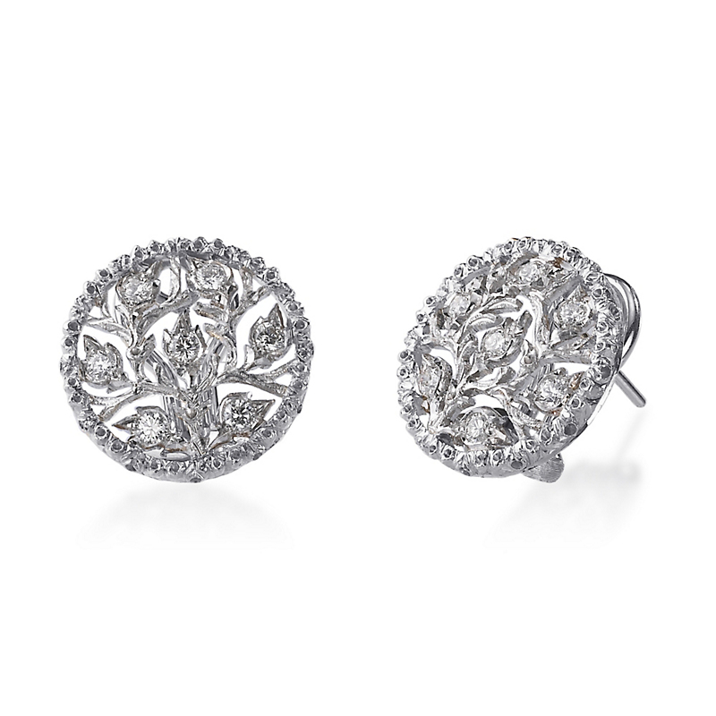 Buccellati Ramage Button Earrings