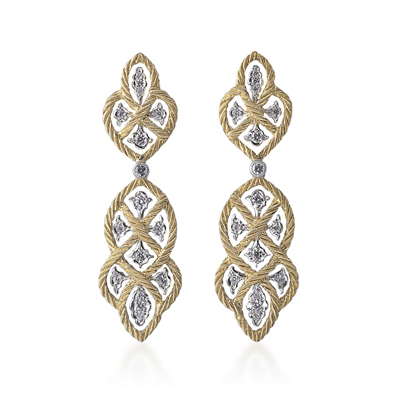 Buccellati Étoilée Diamond Pendant Earrings