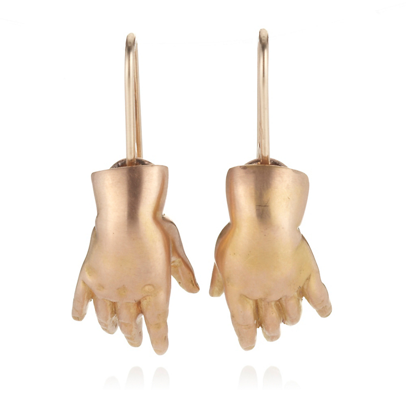 Gabriella Kiss Rose Gold Baby Hands Earrings