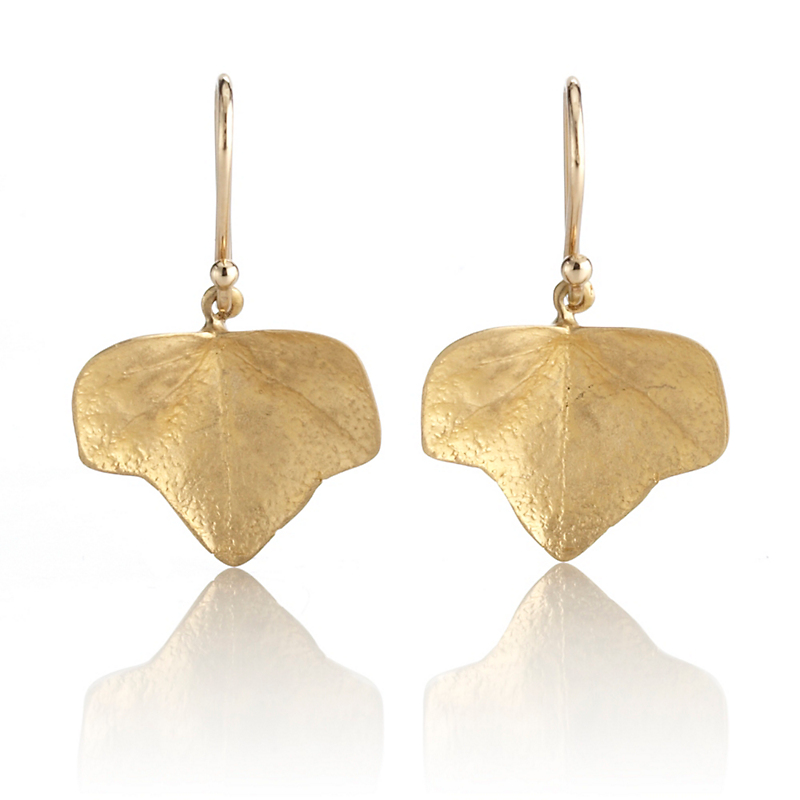 Gabriella Kiss Gold Ivy Leaf Earrings