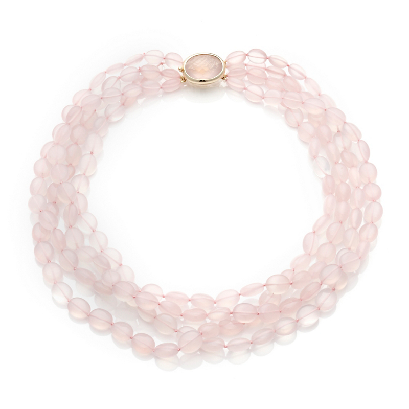 Rose Quartz Four Strand Necklace