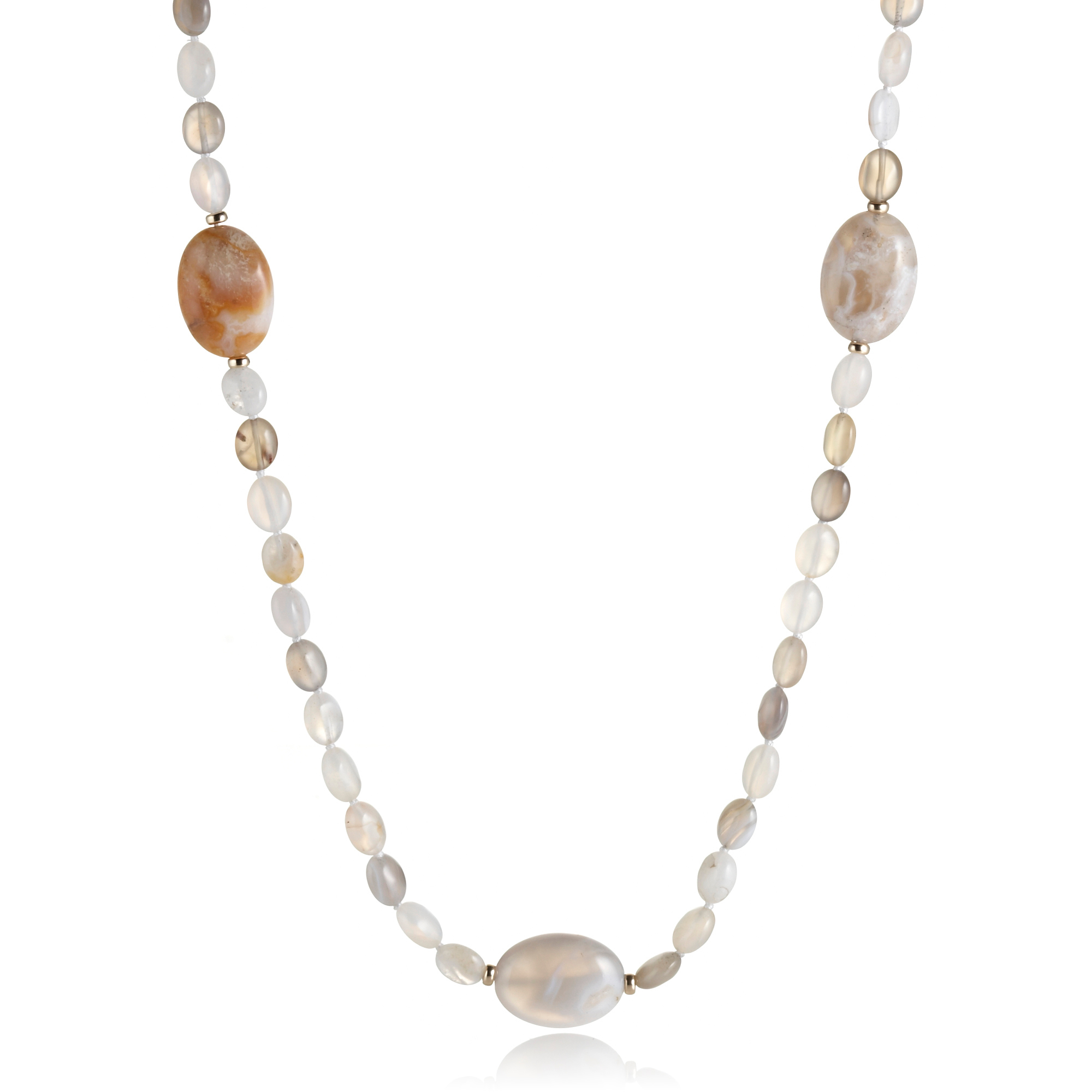 Gump's Agate Rope Necklace