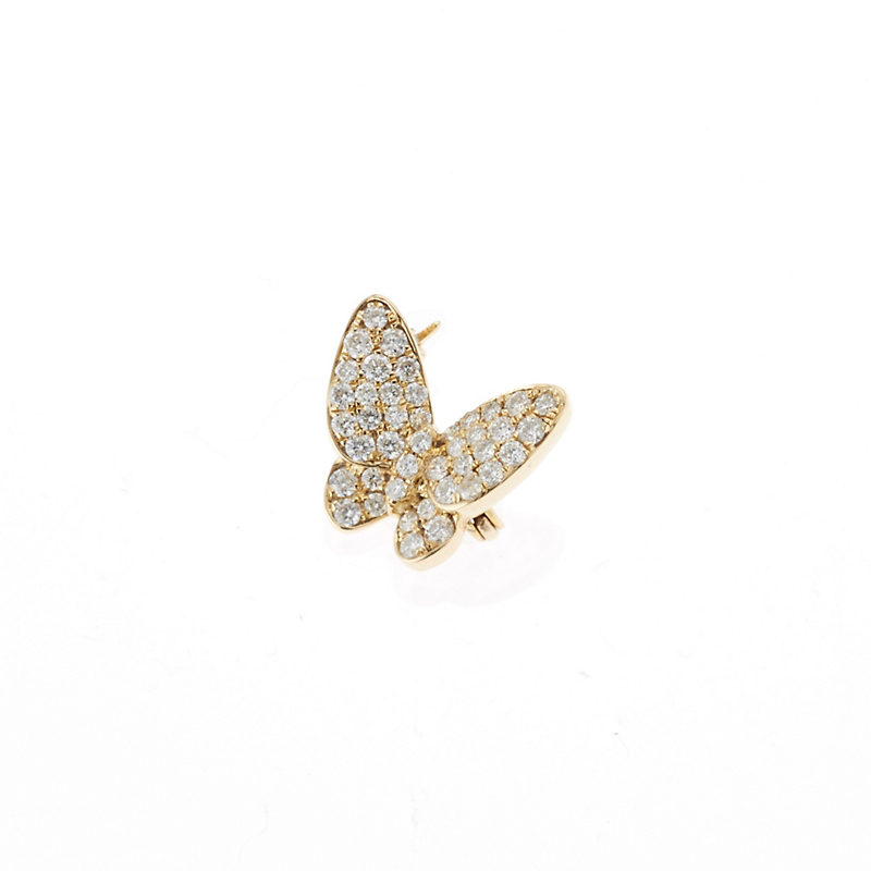 Pavé Diamond Butterfly Pin