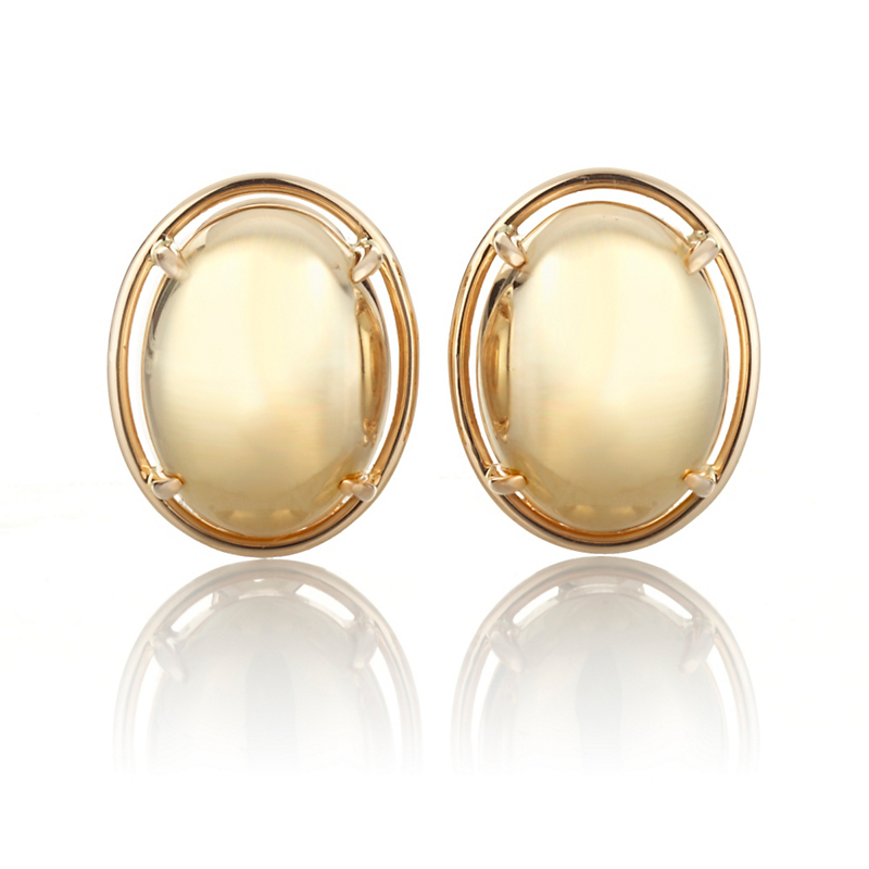 Gump's Gold Cabochon Earrings